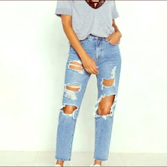 Forever 21 Denim - Ripped boyfriend jeans